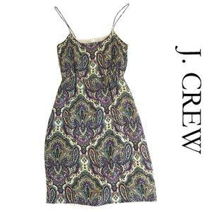 J CREW paisley dress